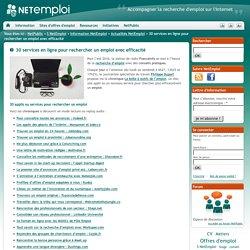 30 services en ligne pour rechercher un emploi avec efficacité