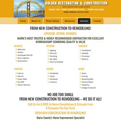 Services by best Remodel & Remodeling company Marin County