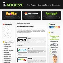Services rémunérés - Proposer ses services sur internet