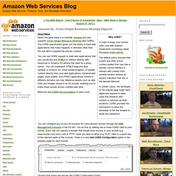 Amazon S3 - Cross Origin Resource Sharing Support