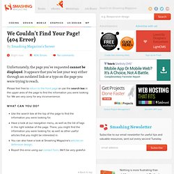 Useful Web Services, Tools and Resources For Web Designers - Smashing Magazine