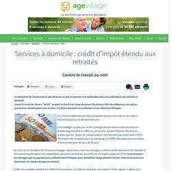Services à domicile : crédit d'impôt étendu aux retraités - 19/09/16