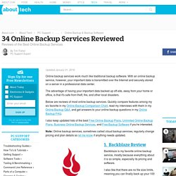 40 Online Backup Services Reviewed (Updated January 2014)