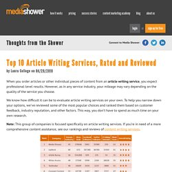 Top 10 Article Writing Services, Rated and Reviewed