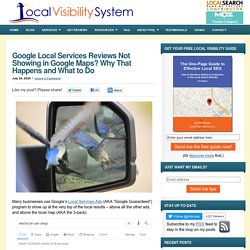 Google Local Services Reviews Not Showing in Google Maps? Why That Happens and What to Do
