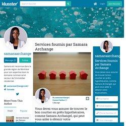 Services fournis par Samara Archange
