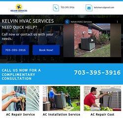 Kelvin HVAC Services, AC repair service cost Alexandria VA