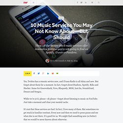 10 Music Services You May Not Know About—But Should