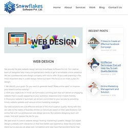 Website Design Services - Snowflakes Software