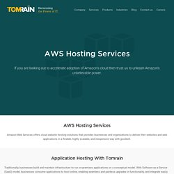 Amazon Cloud Services - AWS Solution Provider - Amazon Web Services