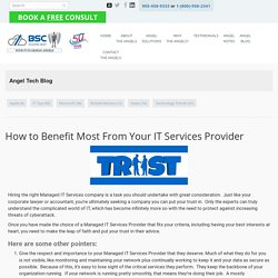 How to Benefit Most From Your IT Services Provider - BSC Solutions Group Ltd.