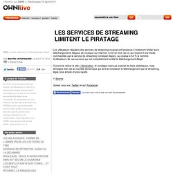 Les services de streaming limitent le piratage » Article » OWNI_Live!,