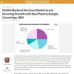 Mobile Backend Services Market to see Stunning Growth with Key Players