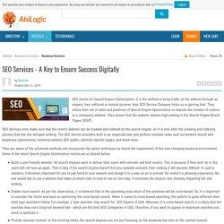 SEO Services - A Key to Ensure Success Digitally
