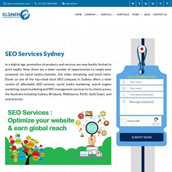 Local SEO Services In Sydney, Hire Best SEO, SMO & PPC Experts – Elsner