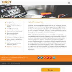 Cloud Services - TECHNOLOGY SOLUTIONS COMPANY
