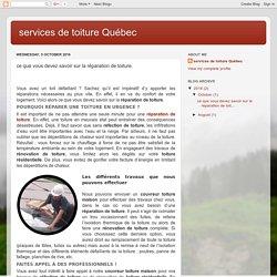 services de toiture Québec: ce que vous devez savoir sur la réparation de toiture.