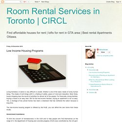CIRCL: Low Income Housing Programs