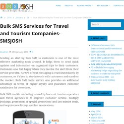 Bulk SMS Services for Travel and Tourism Companies-SMSJOSH