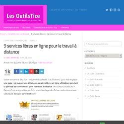 9 services libres en ligne pour le travail à distance
