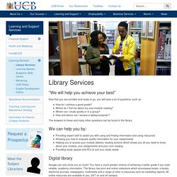 Library Services - University College Birmingham