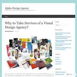 Why to Take Services of a Visual Design Agency?