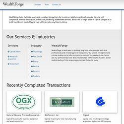 Services WealthForge, LLC