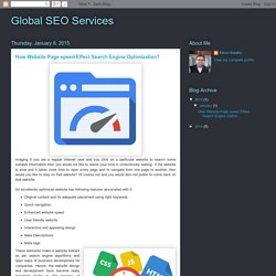 Global SEO Services: How Website Page speed Effect Search Engine Optimization?