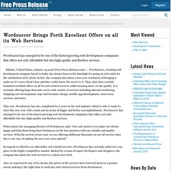Web services News: Wordsuccor Brings Forth Excellent Offers on all its Web Services