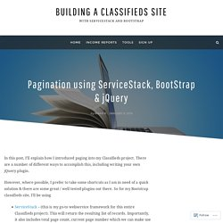 Pagination using ServiceStack, BootStrap & jQuery – Building a Classifieds Site