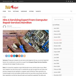 Hire A Servicing Expert From Computer Repair Services Hamilton