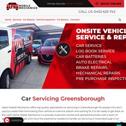 Try Car Servicing Greensborough