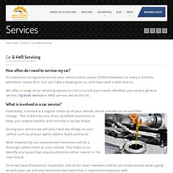 Cairns Car and 4WD Servicing
