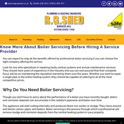 Know More About Boiler Servicing Before Hiring A Service Provider