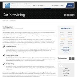 Car Servicing Springwood, Underwood, Slacks Creek, South Brisbane