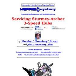 Servicing Sturmey-Archer 3-Speed Hubs