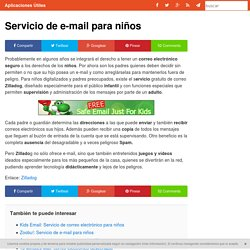 Servicio de e-mail para niños - Aplicaciones Útiles