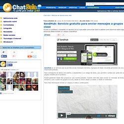 SendHub: Servicio gratuito para enviar mensajes a grupos de clase Aplicaciones web ChatSala