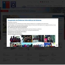 Servicio Nacional de Aduanas - Inicio