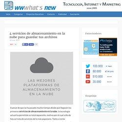 4 servicios de almacenamiento en la nube para guardar tus archivos