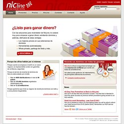 Servicios para distribuidores de dominios y registry service providers (RSP) :: NicLine.com. Your way to domain reselling