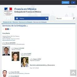 Servicios de la Embajada - La France au Mexique - Francia en México