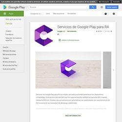 Servicios de Google Play para RA - Aplicaciones en Google Play
