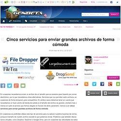 Cinco servicios para enviar grandes archivos de forma cómoda