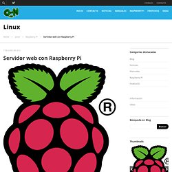 Servidor web casero y económico con el Raspberry Pi