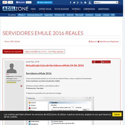 Servidores eMule - Conectar a servidores reales para eMule : Foro Emule