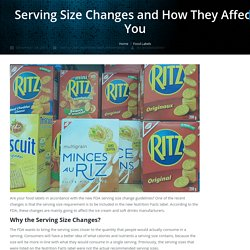 Serving Size Changes and How They Affect You - Jet-Label