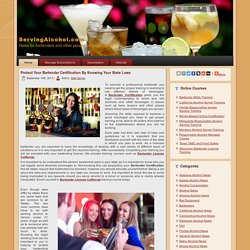 ServingAlcohol.com - News for bartenders, waiters, waitresses, managers, owners and other people serving alcohol.