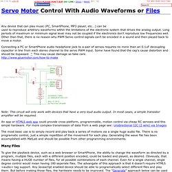 Servo Motor, .Wav file, Hobby Servo, IOT