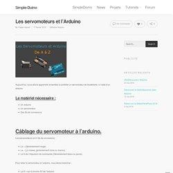 Les servomoteurs et l'Arduino - Simple-Duino